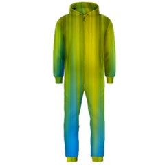 Yellow Blue Green Hooded Jumpsuit (men)
