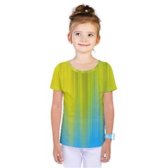 Yellow Blue Green Kids  One Piece Tee