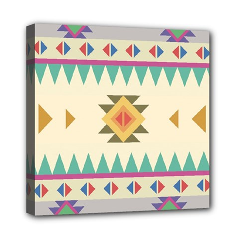 Your First Aztec Pattern Mini Canvas 8  X 8  by Jojostore
