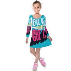 Youve Just About Gotit Kids  Long Sleeve Velvet Dress