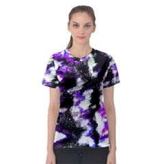 Abstract Canvas Acrylic Digital Design Women s Sport Mesh Tee