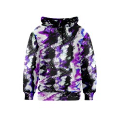 Abstract Canvas Acrylic Digital Design Kids  Zipper Hoodie by Amaryn4rt
