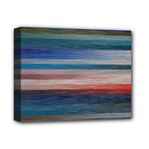 Background Horizontal Lines Deluxe Canvas 14  X 11  by Amaryn4rt