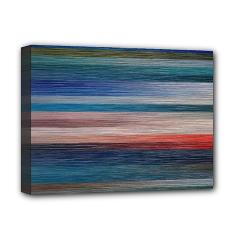 Background Horizontal Lines Deluxe Canvas 16  X 12   by Amaryn4rt