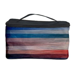 Background Horizontal Lines Cosmetic Storage Case by Amaryn4rt