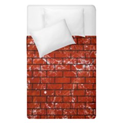 Brick1 Black Marble & Red Marble (r) Duvet Cover Double Side (single Size) by trendistuff
