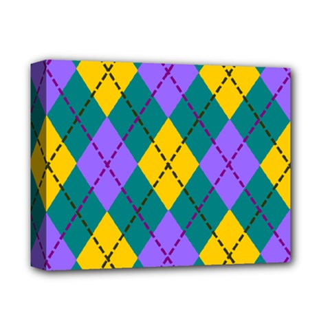 Texture Background Argyle Teal Deluxe Canvas 14  X 11  by Jojostore