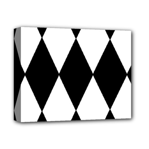 Chevron Black Copy Deluxe Canvas 14  X 11