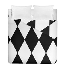 Chevron Black Copy Duvet Cover Double Side (full/ Double Size)