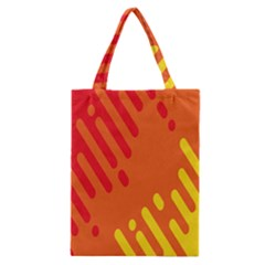 Color Minimalism Red Yellow Classic Tote Bag