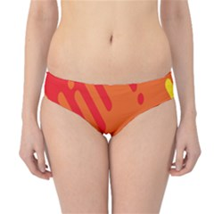 Color Minimalism Red Yellow Hipster Bikini Bottoms by Jojostore