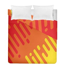 Color Minimalism Red Yellow Duvet Cover Double Side (full/ Double Size) by Jojostore