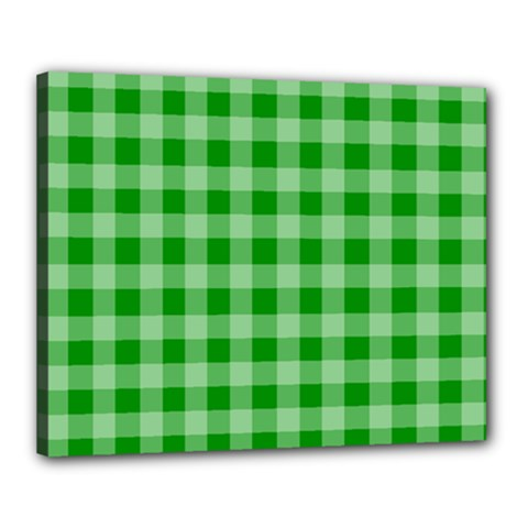 Gingham Background Fabric Texture Canvas 20  X 16