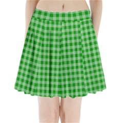 Gingham Background Fabric Texture Pleated Mini Skirt