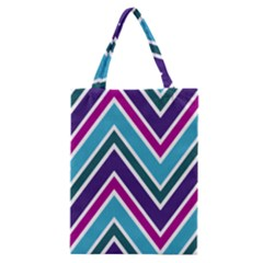 Fetching Chevron White Blue Purple Green Colors Combinations Cream Pink Pretty Peach Gray Glitter Re Classic Tote Bag
