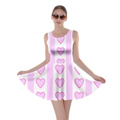 Heart Pink Valentine Day Skater Dress by Jojostore