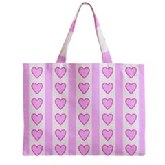 Heart Pink Valentine Day Zipper Mini Tote Bag by Jojostore