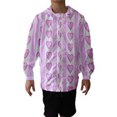 Heart Pink Valentine Day Hooded Wind Breaker (kids) by Jojostore
