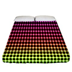 Halftone Pattern Rainbow Fitted Sheet (queen Size) by Jojostore