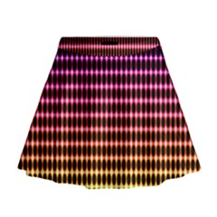 Halftone Pattern Rainbow Mini Flare Skirt