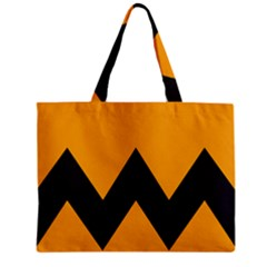 Minimal Modern Simple Orange Zipper Mini Tote Bag