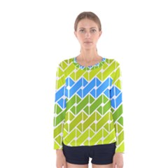 Link Pattern Women s Long Sleeve Tee by Jojostore