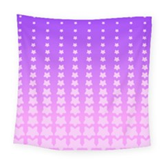 Purple And Pink Stars Line Square Tapestry (large) by Jojostore