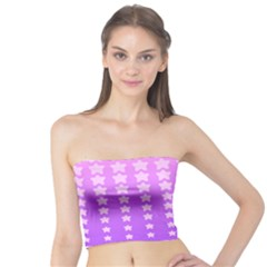 Purple And Pink Stars Tube Top by Jojostore