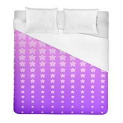 Purple And Pink Stars Duvet Cover (full/ Double Size) by Jojostore