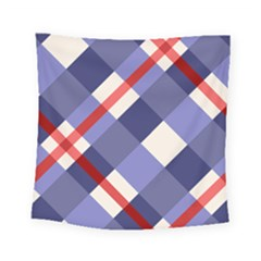 Red And Purple Plaid Square Tapestry (small) by Jojostore