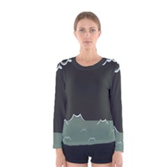 Rain Cloudy Sky Women s Long Sleeve Tee