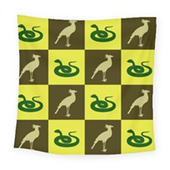 Snake Bird Square Tapestry (large) by Jojostore