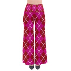 Texture Background Argyle Pink Red Pants