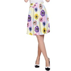 Monster Eye Flower A Line Skirt by Jojostore
