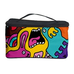 Monsters Pattern Cosmetic Storage Case