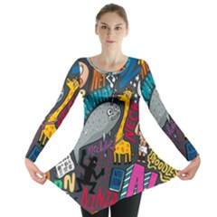 N Pattern Long Sleeve Tunic