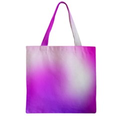 Purple White Background Bright Spots Zipper Grocery Tote Bag
