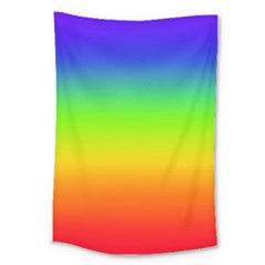 Rainbow Blue Green Pink Orange Large Tapestry