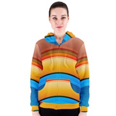 Rainbow Color Women s Zipper Hoodie