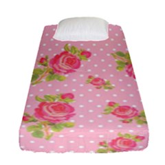 Rose Pink Fitted Sheet (single Size) by Jojostore
