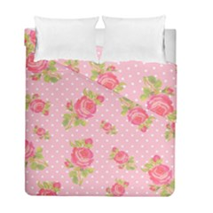 Rose Pink Duvet Cover Double Side (full/ Double Size)