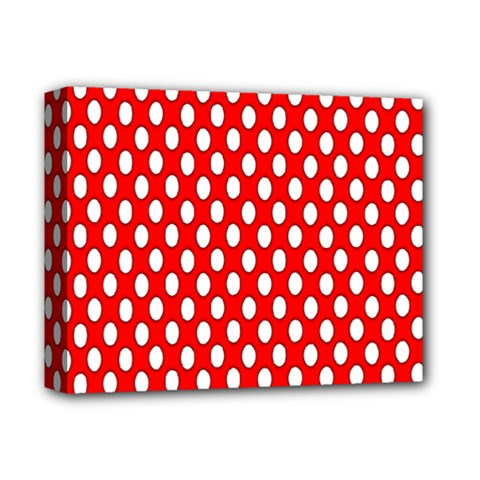 Red Circular Pattern Deluxe Canvas 14  X 11