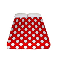 Red Circular Pattern Fitted Sheet (full/ Double Size) by Jojostore