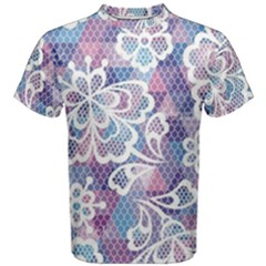 Cute Colorful Nenuphar Flower Men s Cotton Tee by Brittlevirginclothing