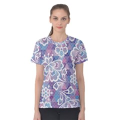 Cute Colorful Nenuphar Flower Women s Cotton Tee by Brittlevirginclothing