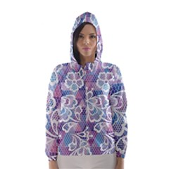 Cute Colorful Nenuphar Flower Hooded Wind Breaker (women) by Brittlevirginclothing