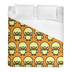 Small Duck Yellow Duvet Cover (full/ Double Size) by Jojostore