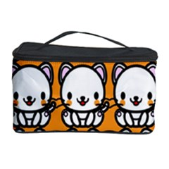Sitwhite Cat Orange Cosmetic Storage Case