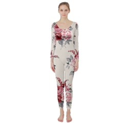 Rose Beauty Flora Long Sleeve Catsuit