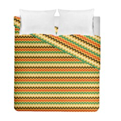 Striped Pictures Duvet Cover Double Side (full/ Double Size)